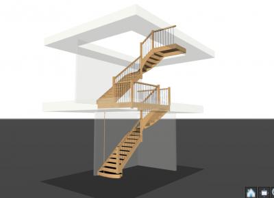 houten trap 3D